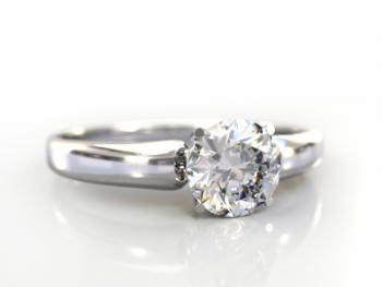 round cut diamond engagement ring - Pawn Shop Wedding Rings