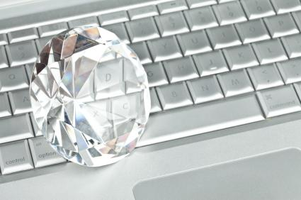 Diamond and laptop