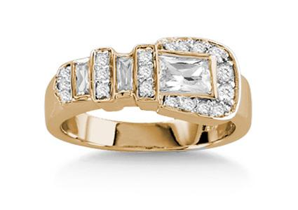 kelly herd buckle ring - Horseshoe Wedding Rings