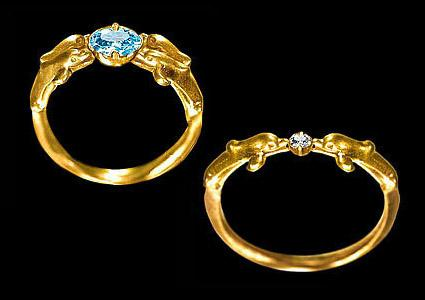 Dolphin rings by Whitfield Jack Jewelry Genius, Inc.