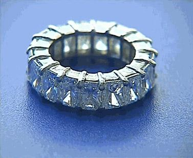 Radiant-cut eternity band from Blue River Diamonds