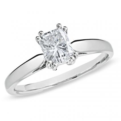 Certified Radiant-Cut Diamond Solitaire from Zales