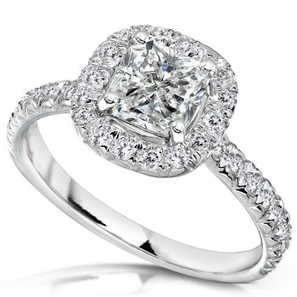 White Gold Radiant-Cut Diamond Ring from Amazon.com