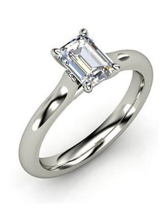 abagail emerald cut diamond ring from gemvara - Emerald Cut Wedding Rings
