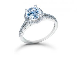 Light blue diamond ring