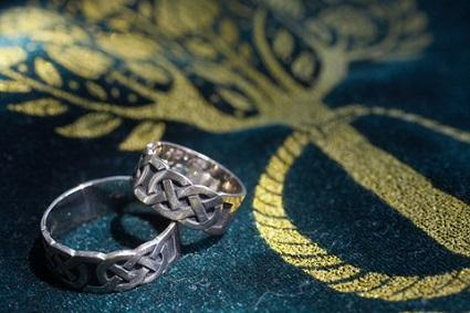 gothic wedding rings - Wiccan Wedding Rings