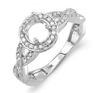 Semi Mount Accented with Round Diamonds