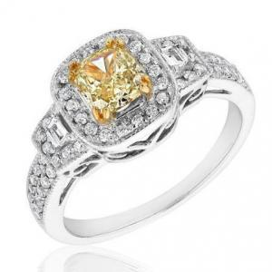 Natural Canary Yellow Diamond Ring