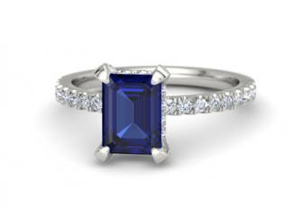 Emerald Cut Carrie Ring