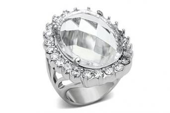 Glass Halo Ring
