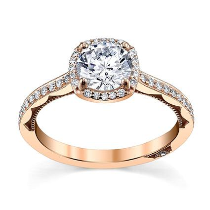 Rose Gold Engagement Ring by Tacori