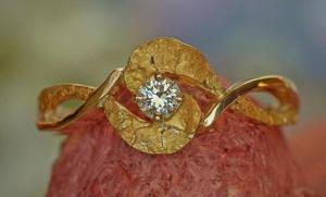 Gold Rush Fine Jewelry Gold Nugget Diamond Ring