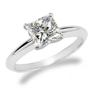 1/3 Carat Princess Cut Diamond Solitaire Engagement Ring