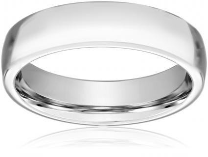 mens cobalt 6mm comfort fit plain wedding band - Cobalt Wedding Rings