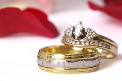 Channel Set Accent Stones on Bridal Set