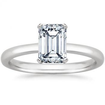 emerald cut solitaire engagement ring from amazoncom - Emerald Cut Wedding Rings