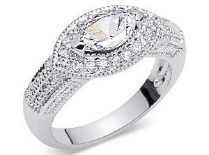 East West Cubic Zirconia Ring