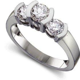 Canadian Certified Three Stone Ring