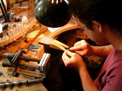 Jewelry artist at work