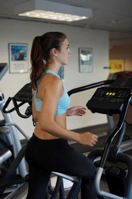 Woman doing cardio workout