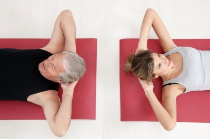 Proper elbow placement for crunches