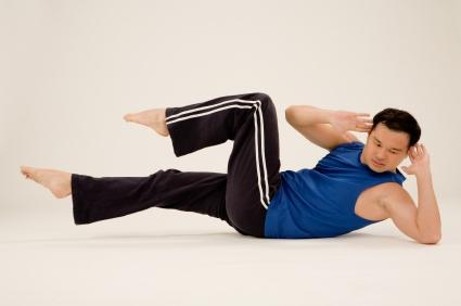 Guy doing Pilates
