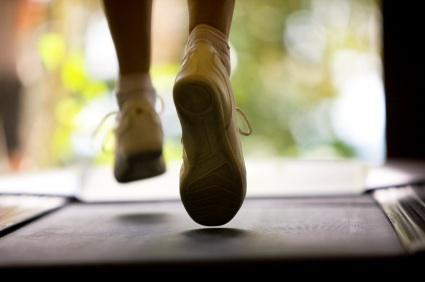 Feet on treadmill