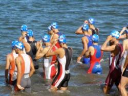 triathlon racers