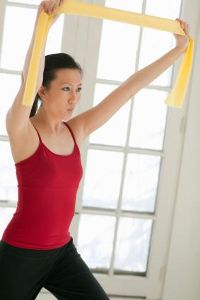 Stretching with resistance band