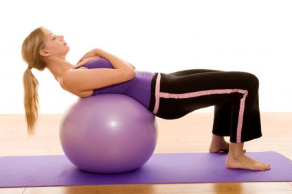 Exercise ball used in delivery process decreases labor time, reduces number of C-sections