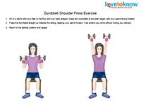 shoulder press dumbbell exercise