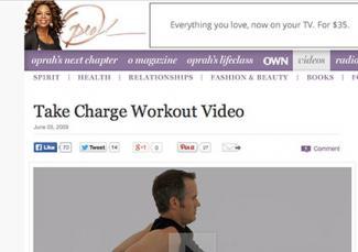 Screenshot of Joel Harper video on Oprah.com website