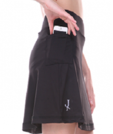 Black walking skirt