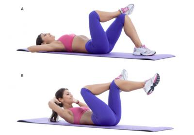 Cross Leg Crunch Exercise
