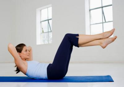 Elevated Bent Knee Crunch Exercise