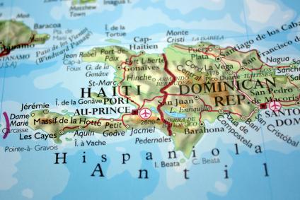 Map of Haiti's island