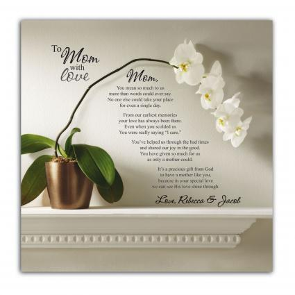 To Mom With Love Canvas