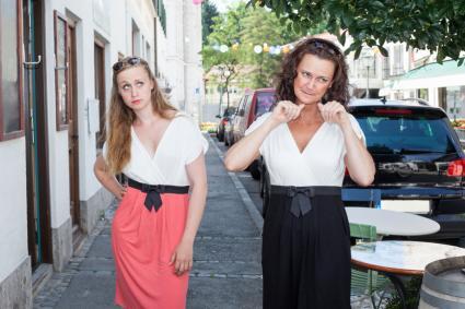 Women on Sidewalk