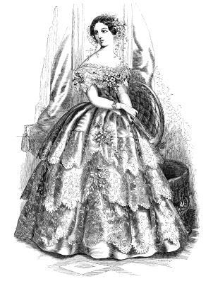 1850s evening dress