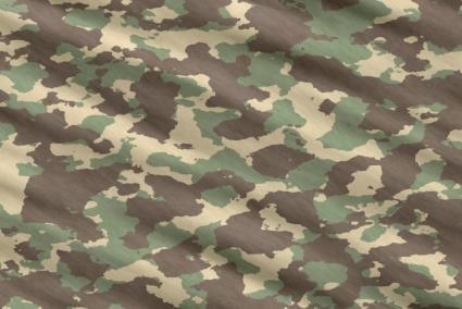 Camouflage cloth closeup