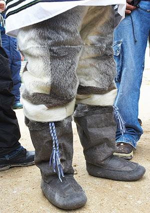 Seal skin pants with boots
