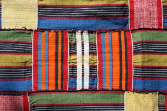 Traditional kente cloth from Ghana.