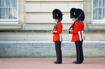 palace guards in uniform