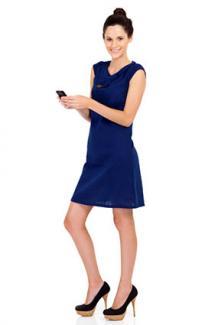 Blue A-Line Dress