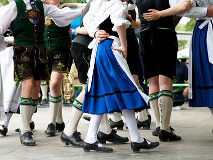 Bavarian folk dance costume