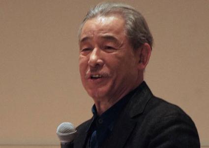 Issey Miyake at a press conference, National Art Center, Tokyo, 2016