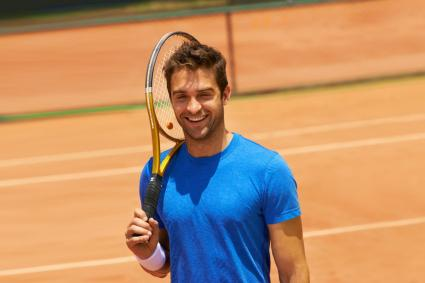 Fit male tennis player