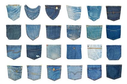 Variety of jean pocket details