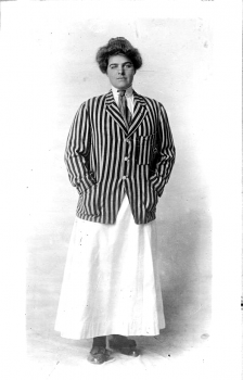 Anne Nason wearing golf blazer
