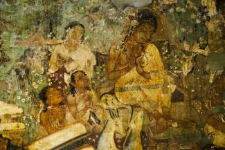 Mural painting in Ajanta cave